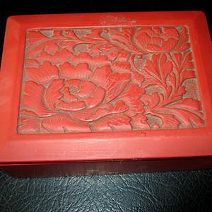 清代大红漆盒