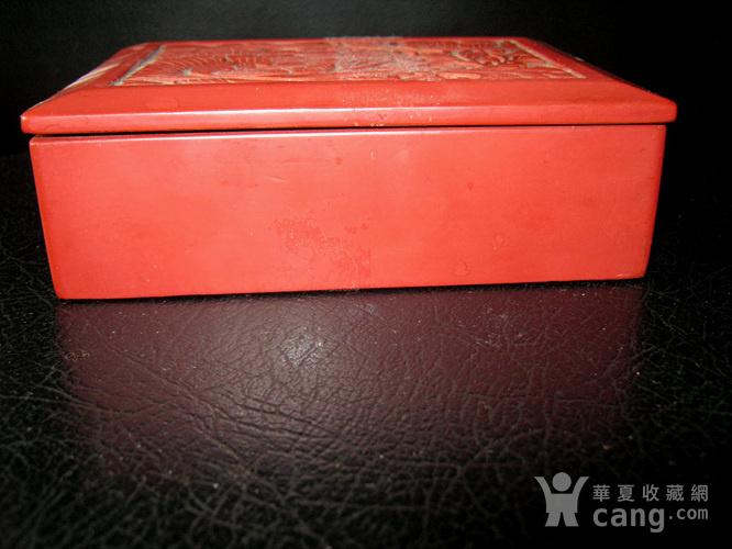 清代大红漆盒图2
