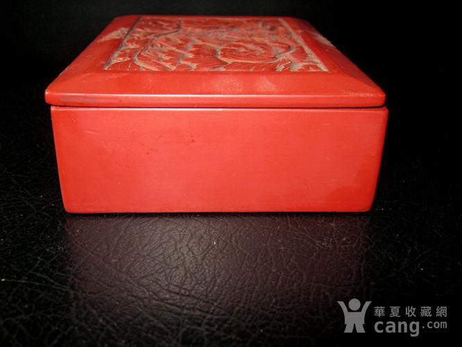 清代大红漆盒图3