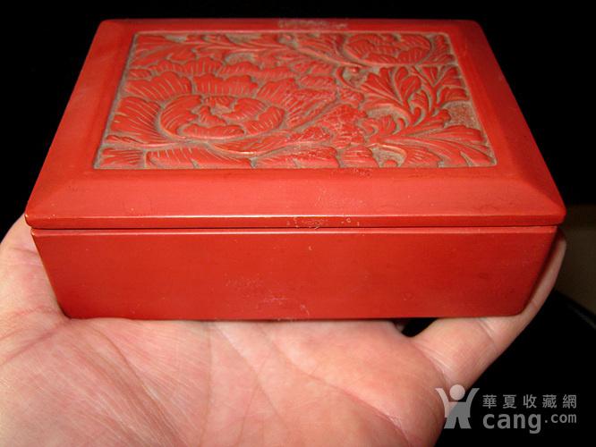 清代大红漆盒图6