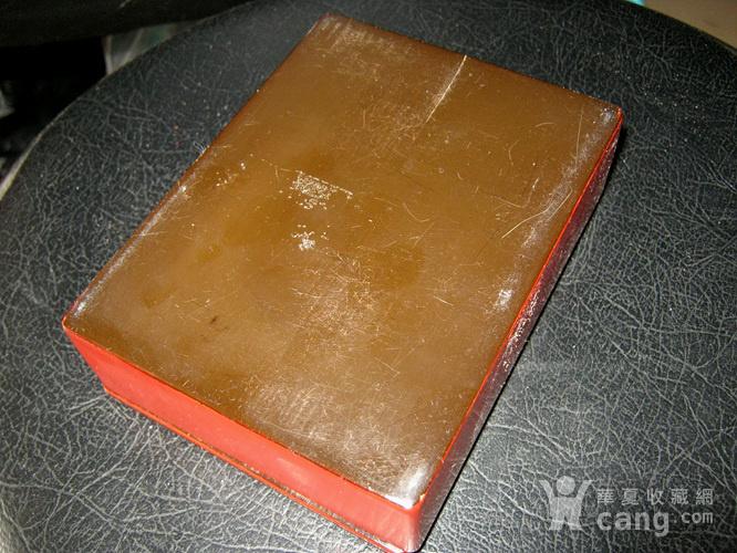 清代大红漆盒图5
