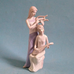 金牌 高手塑像,琴瑟和谐