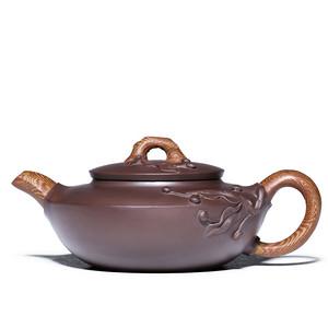 紫砂壶 绞泥扁桃壶