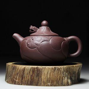紫砂壶 鱼化龙西施壶