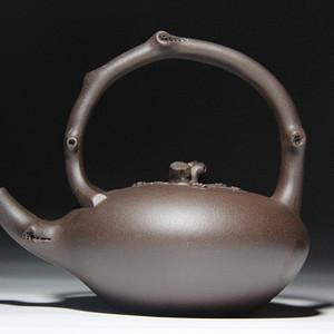 紫砂壶  梅桩提梁壶