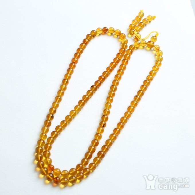 金棕缅甸琥珀108佛珠项链 7mm  24KH15图7