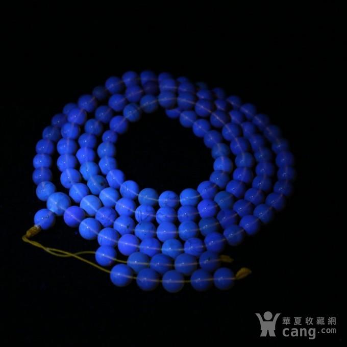 金棕缅甸琥珀108佛珠项链 7mm  24KH15图12