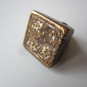 老 铜印 包浆到位 22x19mm
