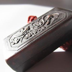 清末 紫铜 喜上眉梢 墨盒 75.50x34.30x27mm