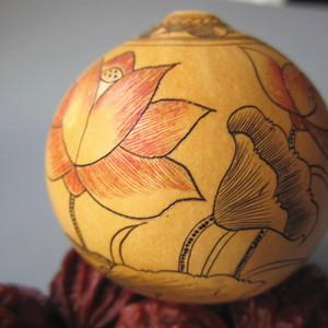 精品 宝葫芦 手工微雕 绘画 连年有余 满图