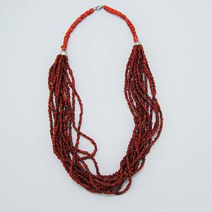 天然 红珊瑚项链c44
