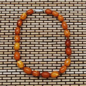 天然 古董密蜡桶珠手链 c58b35 3