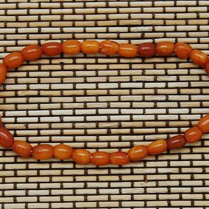 天然 古董密蜡桶珠手链c58 b35 1
