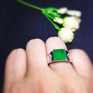 联盟精美哥伦比亚祖母绿戒指