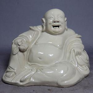 清代德化白釉弥勒佛像
