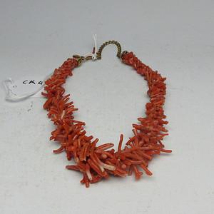 联盟 CK400 红珊瑚项链