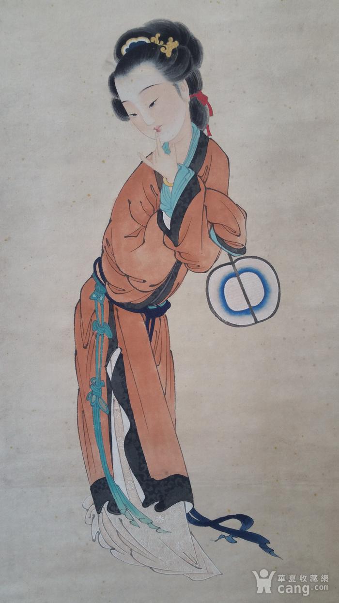 联盟ck691手绘人物仕女卷轴画_在线拍卖_在线拍卖网