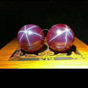 钻石 31  星光宝石手球一对  会变光