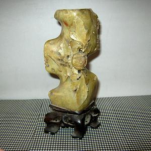 清代寿山石烛台