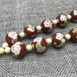 民国粉彩瓷珠一串