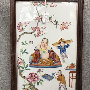 民国瓷版画