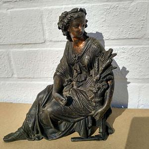 19世纪铜制丰收女神德墨忒尔雕像 3