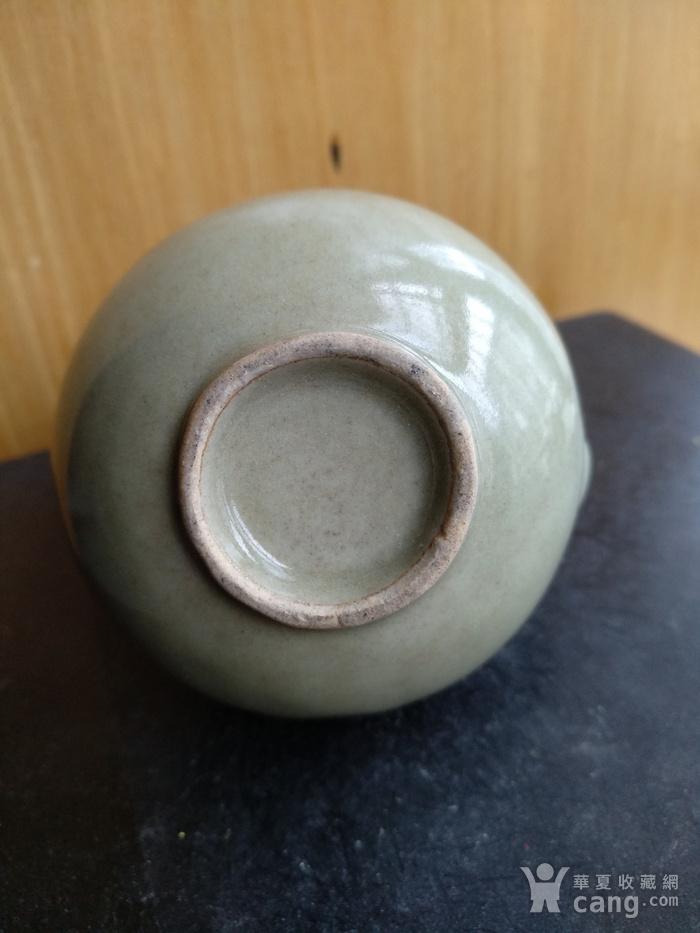 明晚豆青釉葫芦型酒壶,高8.3Cm图6