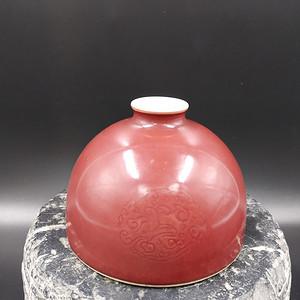 文房瓷 豇豆红太白尊