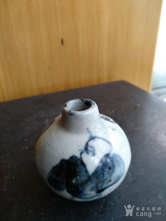 清早期青花人物小水滴,高:4.3Cm文房佳器。图3