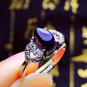 抗癌宝石舒俱来!纯天然原矿原色无优化苏纪石紫妃葡萄紫满紫戒指