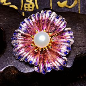 超美的珍珠吊坠!天然淡水珍珠强光白珍珠璀璨吊坠两用胸针