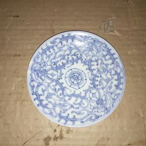 清中期细莲子盘