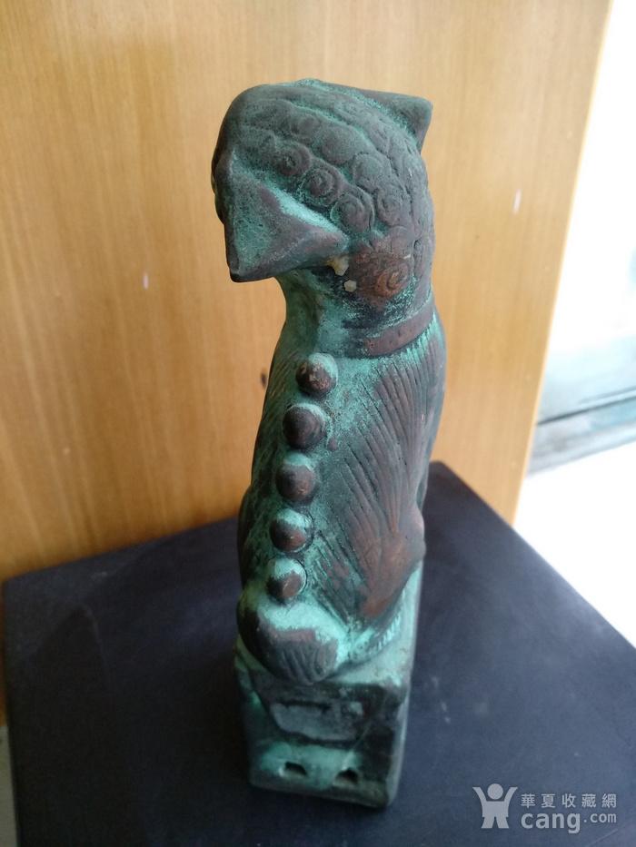 清早瓷胎铜釉仿生坐狮,高:16.8Cm图5