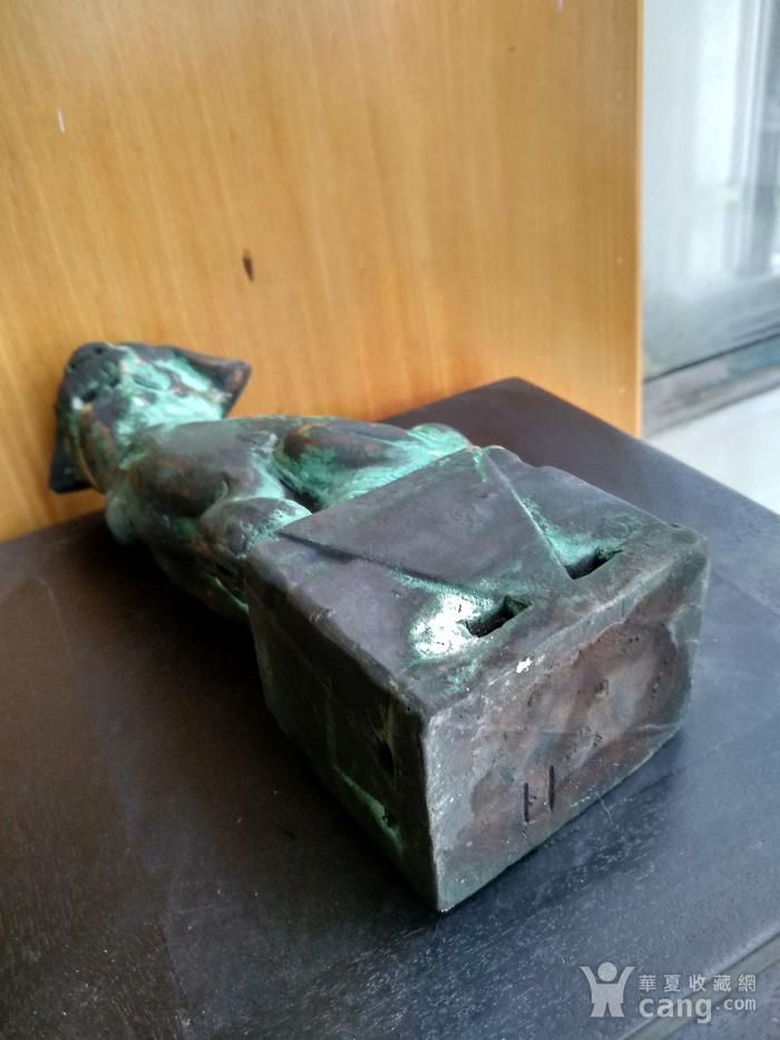 清早瓷胎铜釉仿生坐狮,高:16.8Cm图6