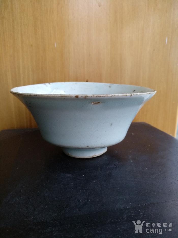元枢府釉小底足折腰碗,高5.5Cm,口径11.4. 11Cm。图1