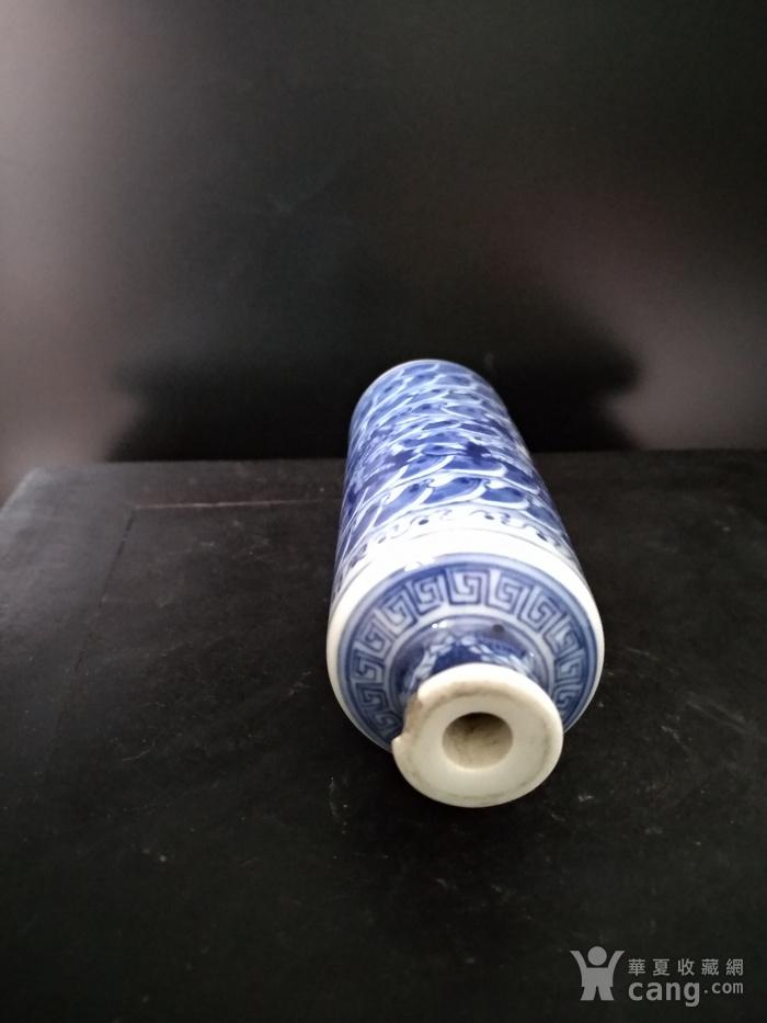 清。青花鼻烟壶,高:9.5Cm,底径3Cm。图5