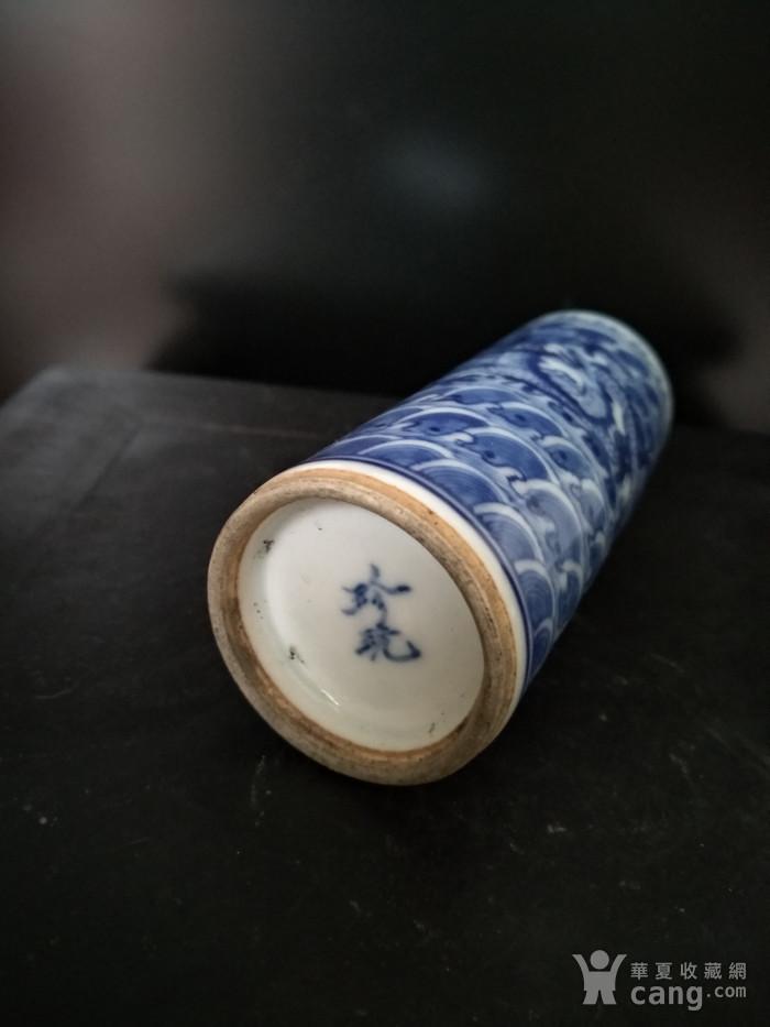 清。青花鼻烟壶,高:9.5Cm,底径3Cm。图1