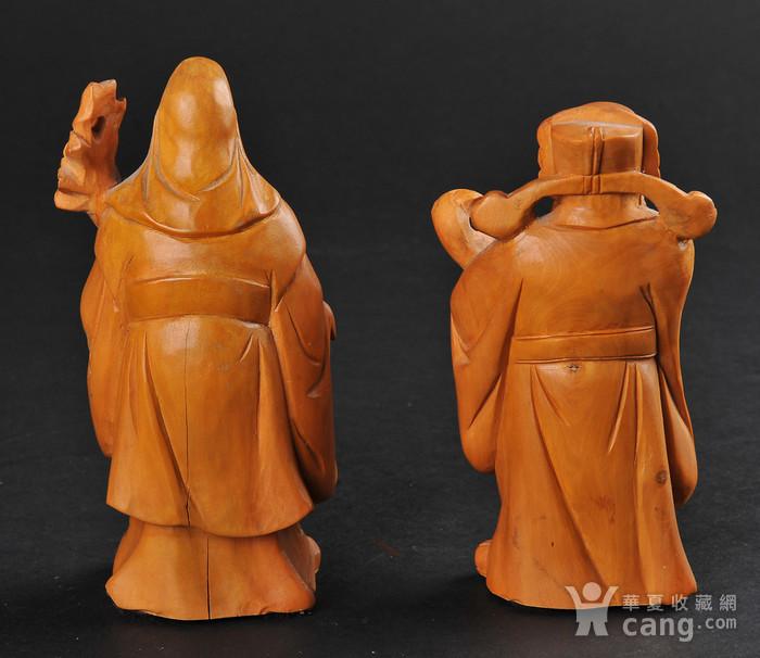 欧美回流 老黄杨木人物雕件两件图2