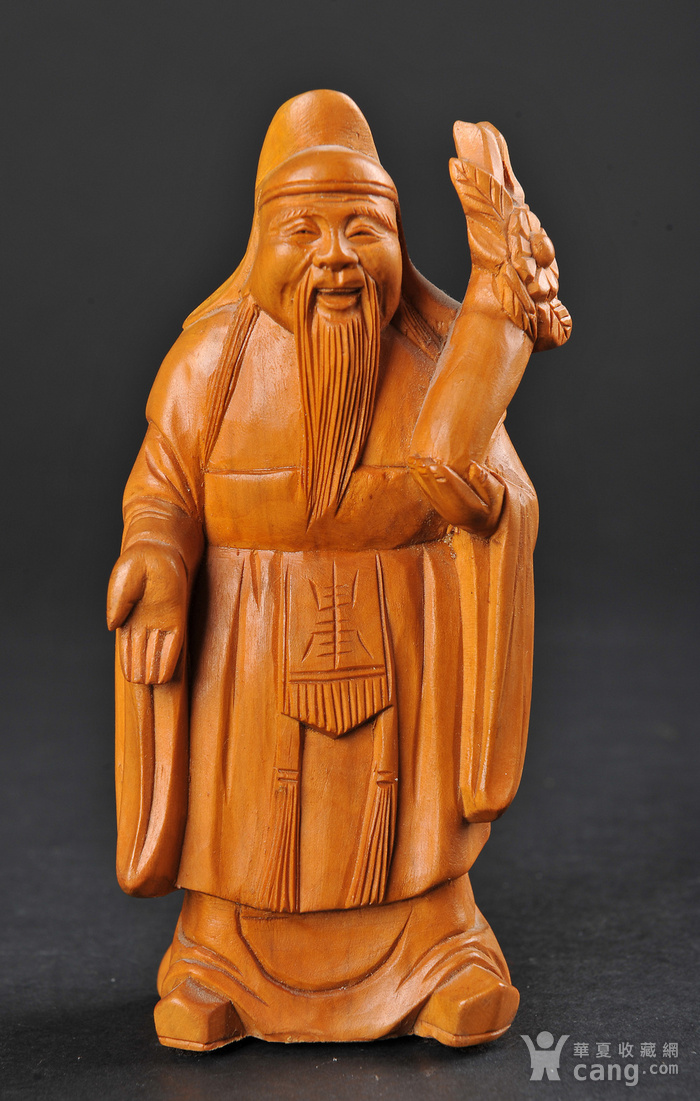 欧美回流 老黄杨木人物雕件两件图3