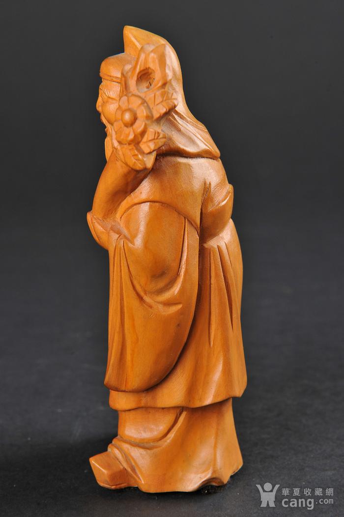 欧美回流 老黄杨木人物雕件两件图4