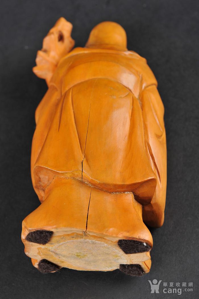 欧美回流 老黄杨木人物雕件两件图5