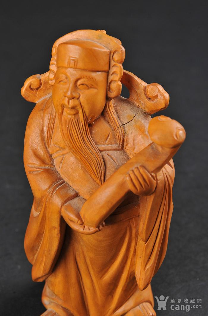 欧美回流 老黄杨木人物雕件两件图8