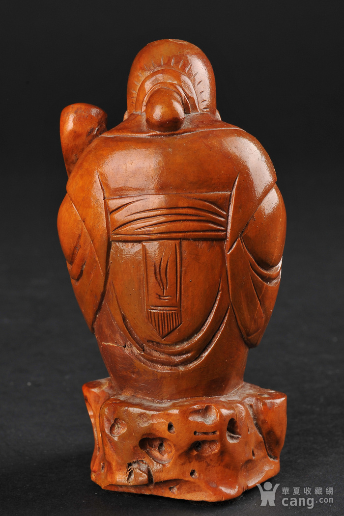 欧美回流 老柚木雕寿星立像图3