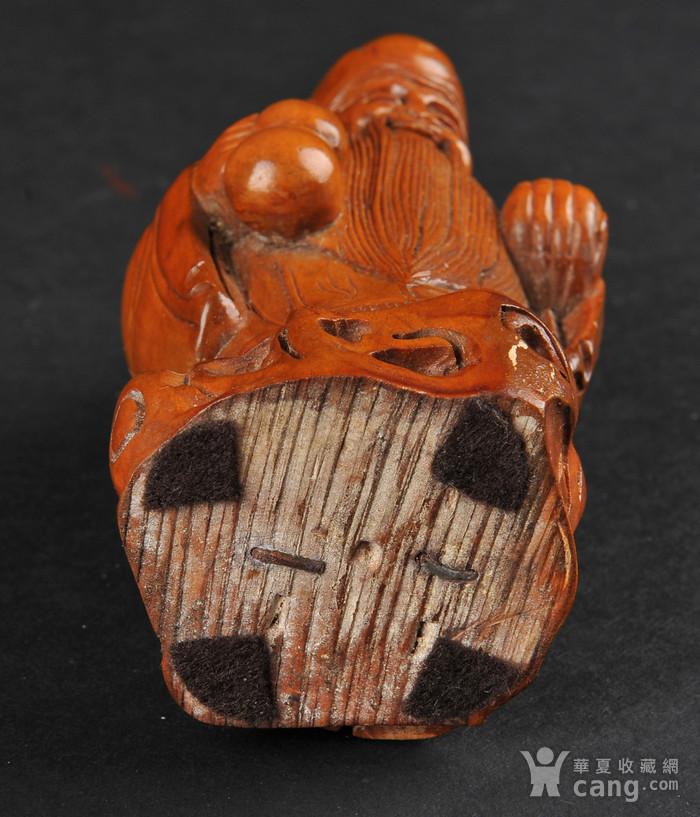 欧美回流 老柚木雕寿星立像图6