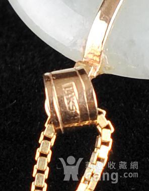 欧美回流 漂亮14K金翡翠平安扣镶嵌五色宝石吊坠项链图6