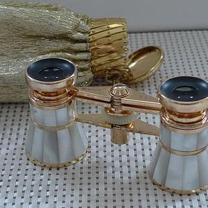 金牌 德产黄铜嵌珍珠母歌剧望远镜