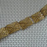 金牌 德国手工银镀金掐丝手链