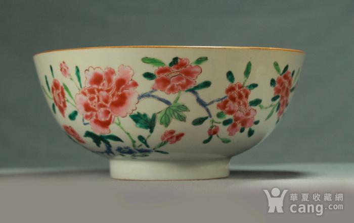 清雍正粉彩折枝牡丹花卉纹大碗