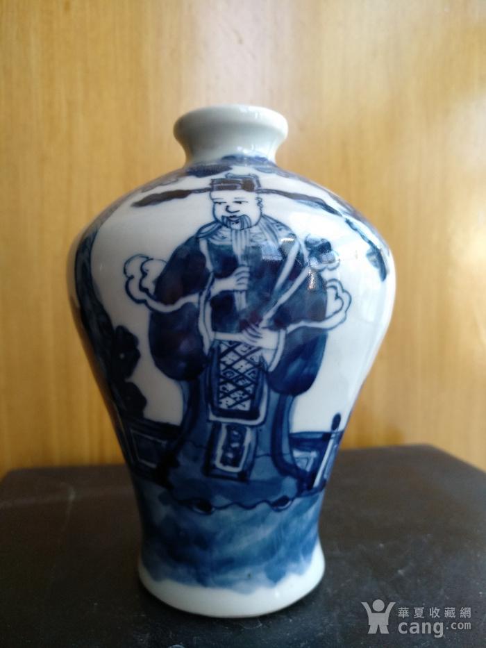 欧洲回流,青花人物梅瓶,高:11Cm。图8