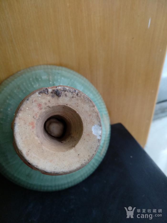 元龙泉梅子青釉高足杯 锯口 ,高7.5Cm,口径11Cm。图6